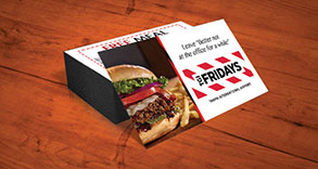TGI Fridays Business Card Design