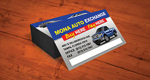 Mona Auto Exchange Business Card Design