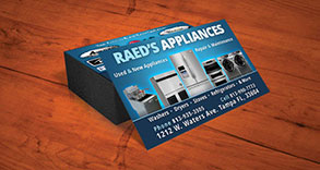 Raed's Appliances Business Card Design
