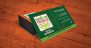 Senor Tequila Business Card Design
