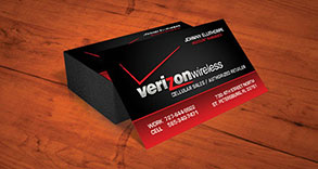 Verizon Wireless Business Card Design